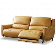 Pavel Electric Reclining 3 Seater Sofa With USB Leather Category 20