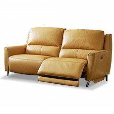 Pavel Electric Reclining 2 Seater Sofa With USB Leather Category 20