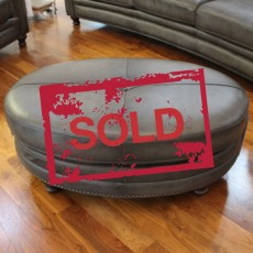 Shakespeare Footstool Vintage Leather SOLD