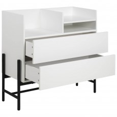 Stockholm 2 Drawer Display Unit White
