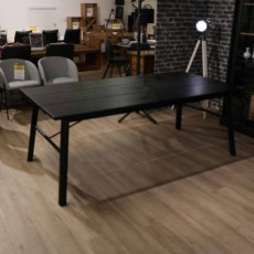 Stockholm Carver 6-8 Person Dining Table Black