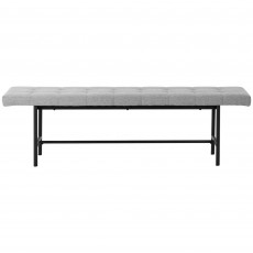 Stockholm 3 Person Dining Bench Fabric Grey