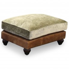 Tetrad Lowry Rectangular Footstool Comanche Timber & Coco Slate