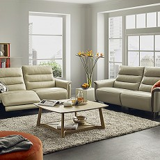 Aspromonte 4+ Seater Leather Corner Sofa (Available in Galway) WAS €3,859 NOW €1,999