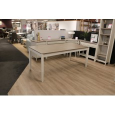 Canneto Grey Washed Oak & Soft Grey 6-8 Person Extending Dining Table