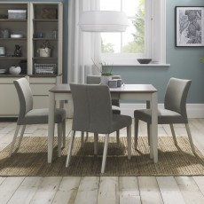 Canneto Grey Washed Oak & Soft Grey 4-6 Person Extending Dining Table