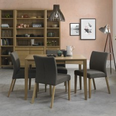 Canneto Oak 6-8 Person Extending Dining Table