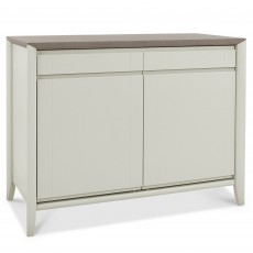 Canneto Grey Washed Oak & Soft Grey Narrow Sideboard