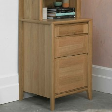 Canneto Oak 3 Drawer Filling Cabinet