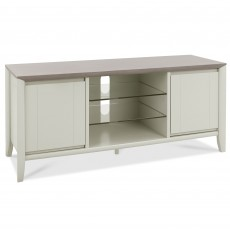 Canneto TV/HI-FI Unit Grey Washed Oak & Soft Grey