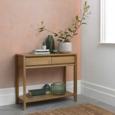 Canneto Oak Console Table