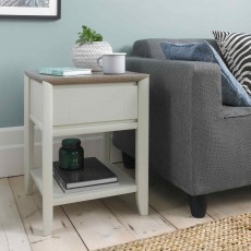 Canneto Side/Lamp TableGrey Washed Oak & Soft Grey