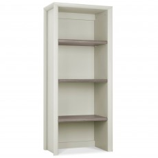 Canneto Grey Washed Oak & Soft Grey Narrow Top Display Unit