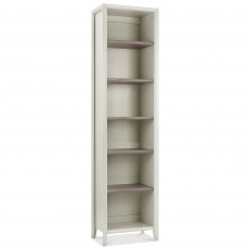 Canneto Grey Washed Oak & Soft Grey Narrow Bookcase