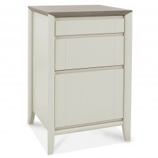 Canneto Grey washed Oak & Soft Grey 3 Drawer Filling Cabinet