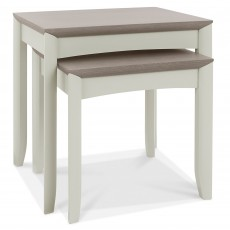 Canneto Grey Washed Oak & Soft Grey Nest Of Tables (2)