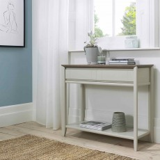 Canneto Grey Washed Oak & Soft Grey Console Table