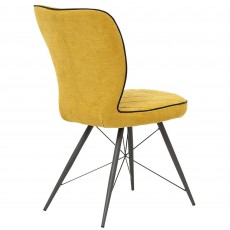 Emilio Dining Chair Gold Fabric