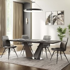 Westin 8-10 Person Dining Table & 4 Dining Chairs