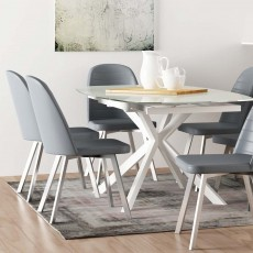 Samba Twist  4-6 Person Extending Dining Table Cappuccino