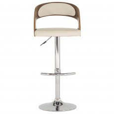 Flair Bar Stool Cream & Walnut