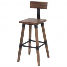 Hunter Bar Stool Elm Rustic