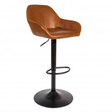 Chevy Bar Stool Faux Leather Tan