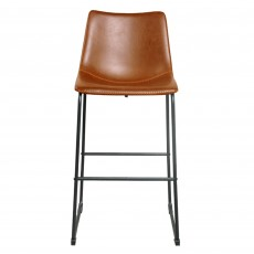 Cooper Bar Stool Faux Leather Tan