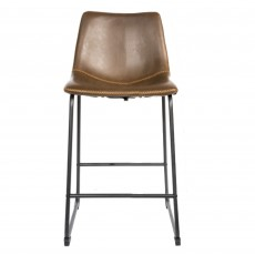 Cooper Bar Stool Faux Leather Chestnut