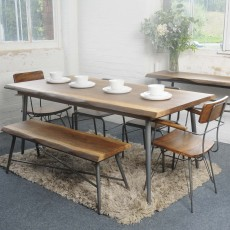 Live Edge 6 Person Dining Table