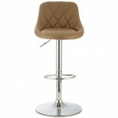 Mace Bar Stool Faux Leather Taupe