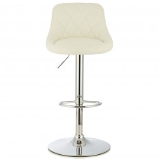 Mace Bar Stool Faux Leather White
