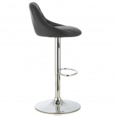 Mace Bar Stool Faux Leather Black