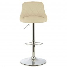 Mace Bar Stool Faux Leather Cream