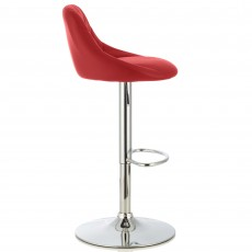 Mace Bar Stool Faux Leather Red