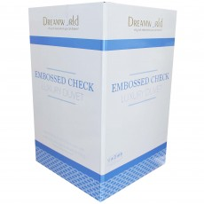 Dreamworld Embossed Check Microfibre Single Duvet 13.5 Tog