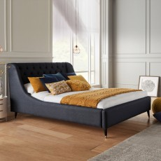 Louis Super King (180cm) Bedstead Fabric B