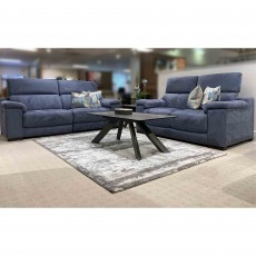 Riccardo 4+ Seater Corner Sofa With Electric Recliner & USB Fabric