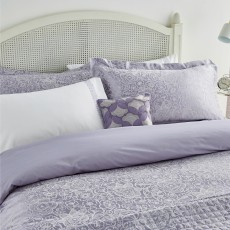 Helena Springfield Sylvie Super King Duvet Cover Lilac