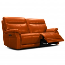 Salvatore Electric Reclining 3 Seater Sofa Leather Category 15(S)