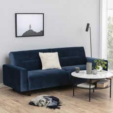 Ava 3.5 Seater Pocket Sprung Sofa Bed Fabric Blue
