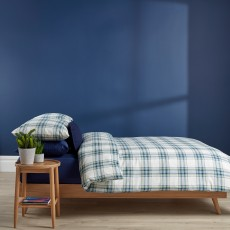 Christy Thurloe Single Check Duvet Cover Set Blue