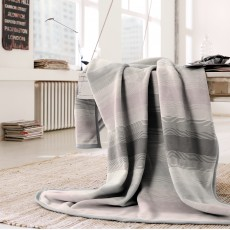 Biederlack Stripe Lotus 150cm x 200cm Throw Multi Coloured