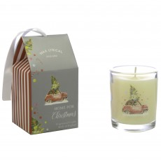 Wax Lyrical Home For Christmas 70g Glass Candle