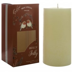 Wax Lyrical Holly Jolly  7.5cm x 15cm Pillar Candle