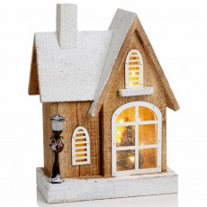 Wooden House Scene 30cm Battery Operated