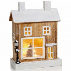 Wooden House Scene 32cm Battery Operated