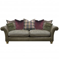 Alexander & James Blake 3 Seater Standard Back Sofa Fabric & Leather Option 1