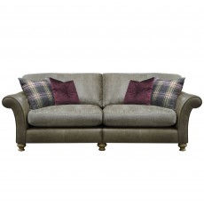 Alexander & James Blake 4 Standard Back Seater Sofa Fabric & Leather Sofa Option 1