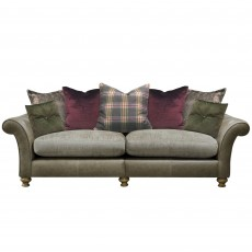 Alexander & James Blake 4 Seater Scatter Back Sofa Fabric & Leather Option 1